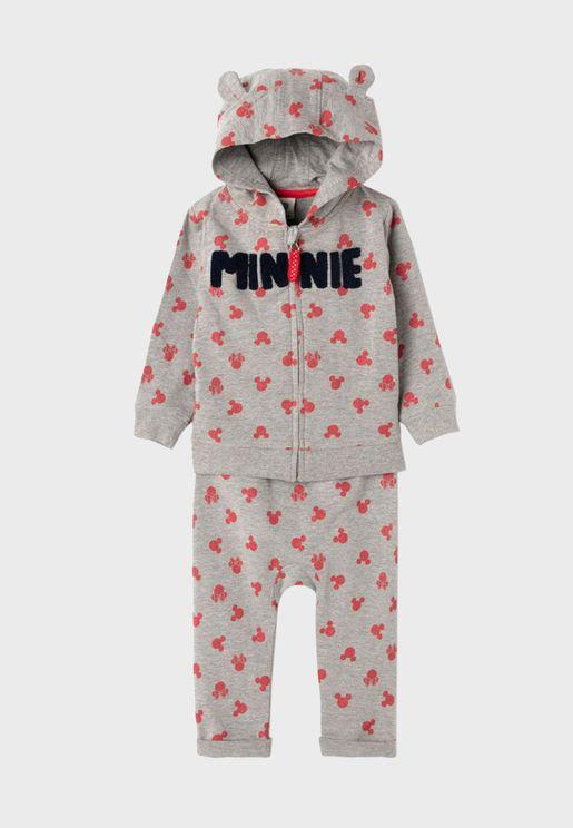 Infant Minnie Hoodie + Long Pyjama Set