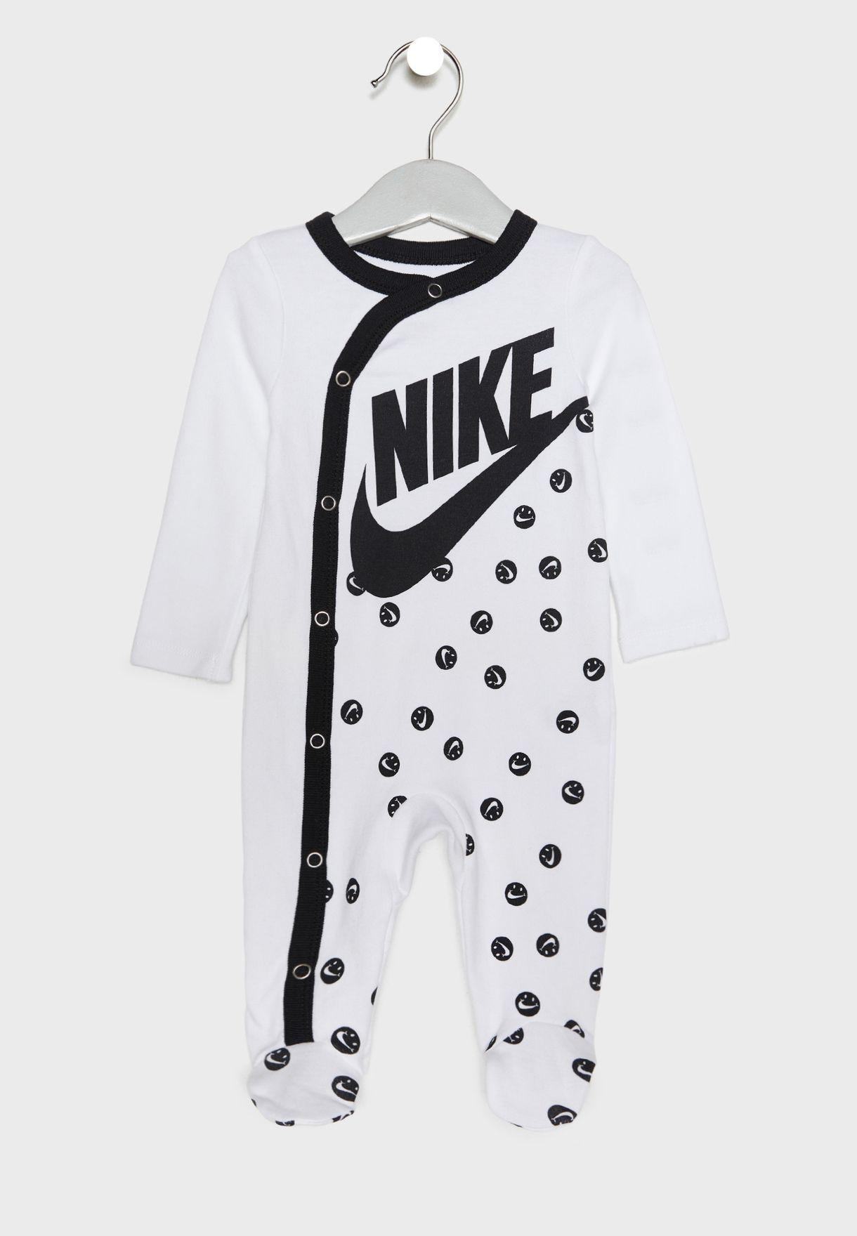 843182799307 Shop Nike prints Infant AOP Smiley Romper 56D679-001 for Kids in ...