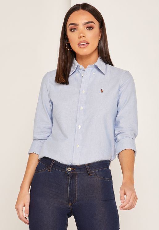 Kendal Button Down Logo Shirt