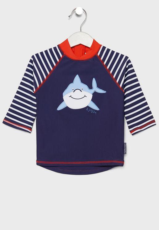 Kids Shark Graphic Rash Vest