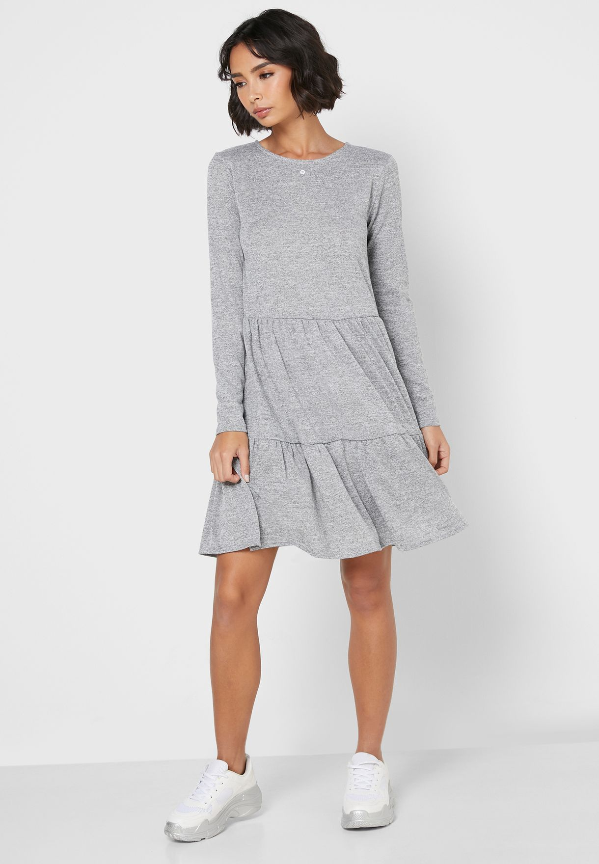 Long Sleeve Smock Dress