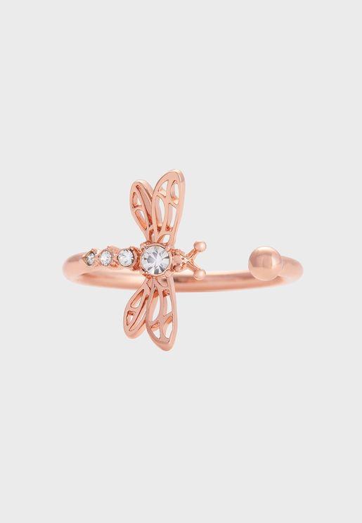 OBJAMR47 Dancing Dragonfly Ring