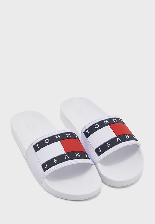 Flag Pool Slide Flat Sandals