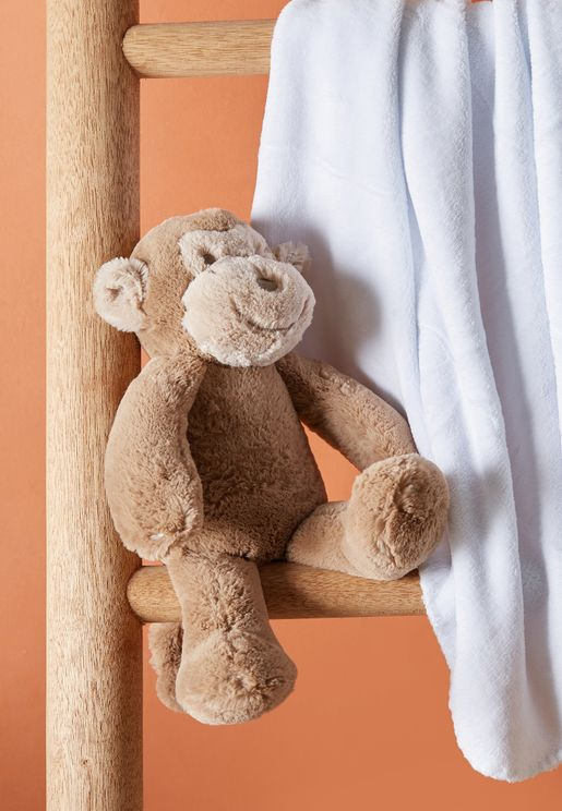 MONKEY Rolled Blanket And Toy Set