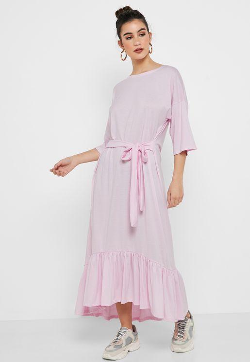 3/4 Sleeve Pephem Dress