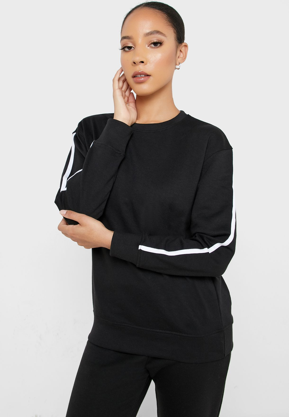 Contrast Detail Sweater Co Ord