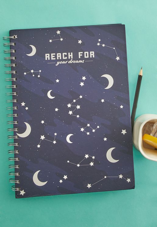 A4 Star & Moon Ring Bound Notebook