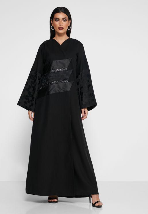 Sequin Detail Abaya