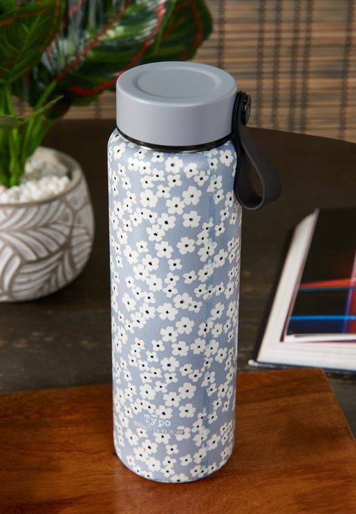 Cherry Blossom Cool Grey Gotta Go Water Bottle
