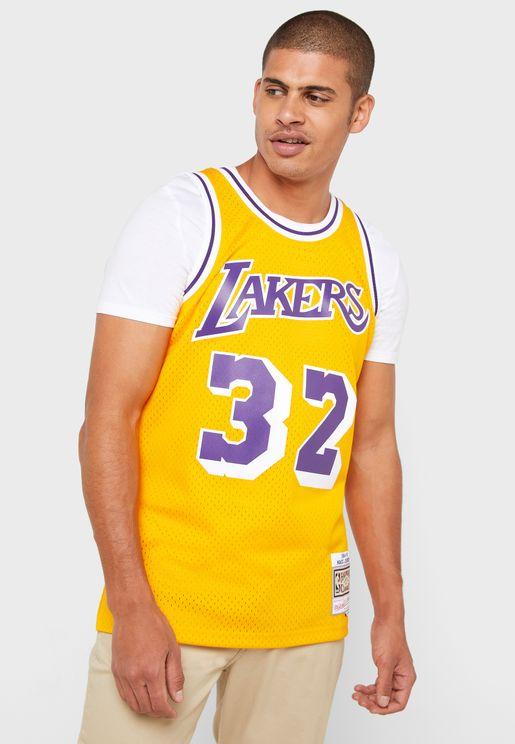 Magic Johnson Los Angeles Lakers Swingman T-Shirt