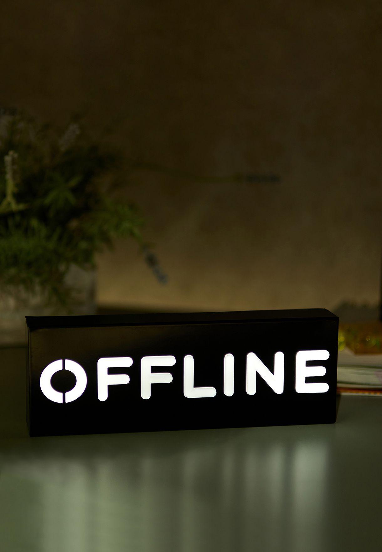 Offline Block Marquee Light