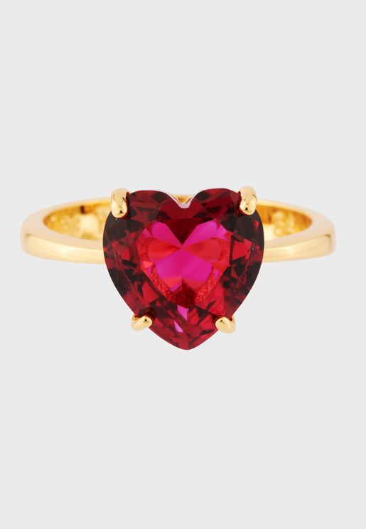 Little Heart-Shaped Stone Ring