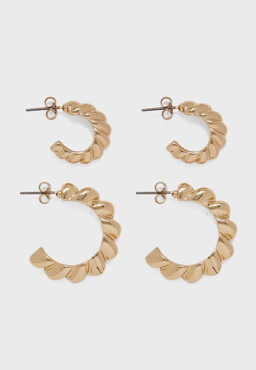Ingeborg Multipack Hoop Earrings