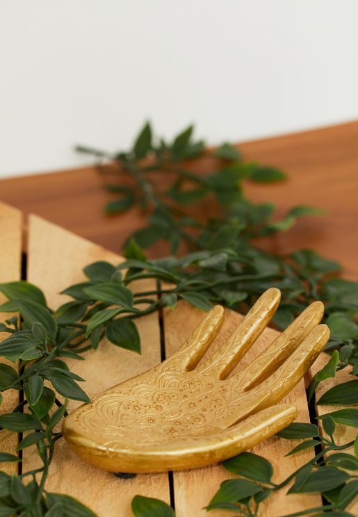 Gold Hand Trinket Dish