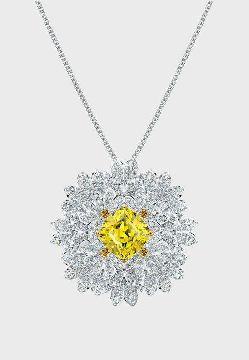 Eternal Flower Brooch Pendant Necklace