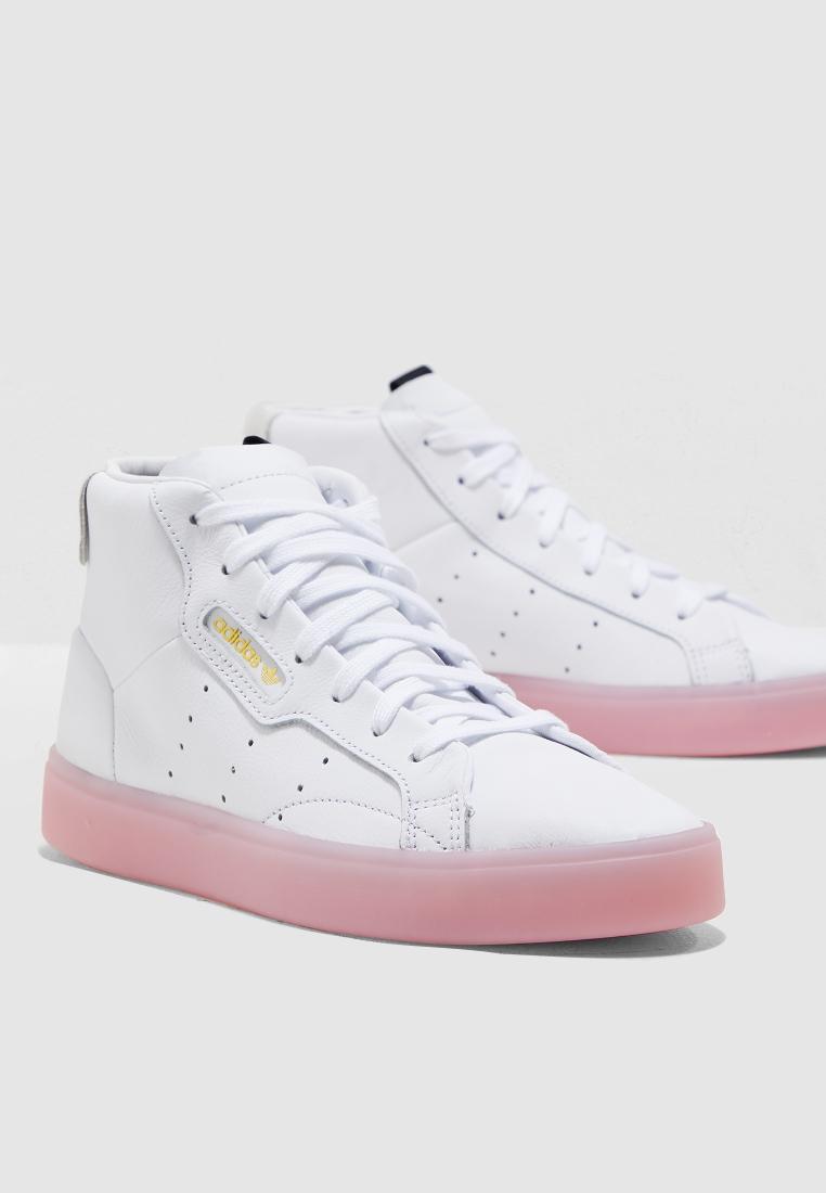 Buy adidas Originals white Sleek Mid