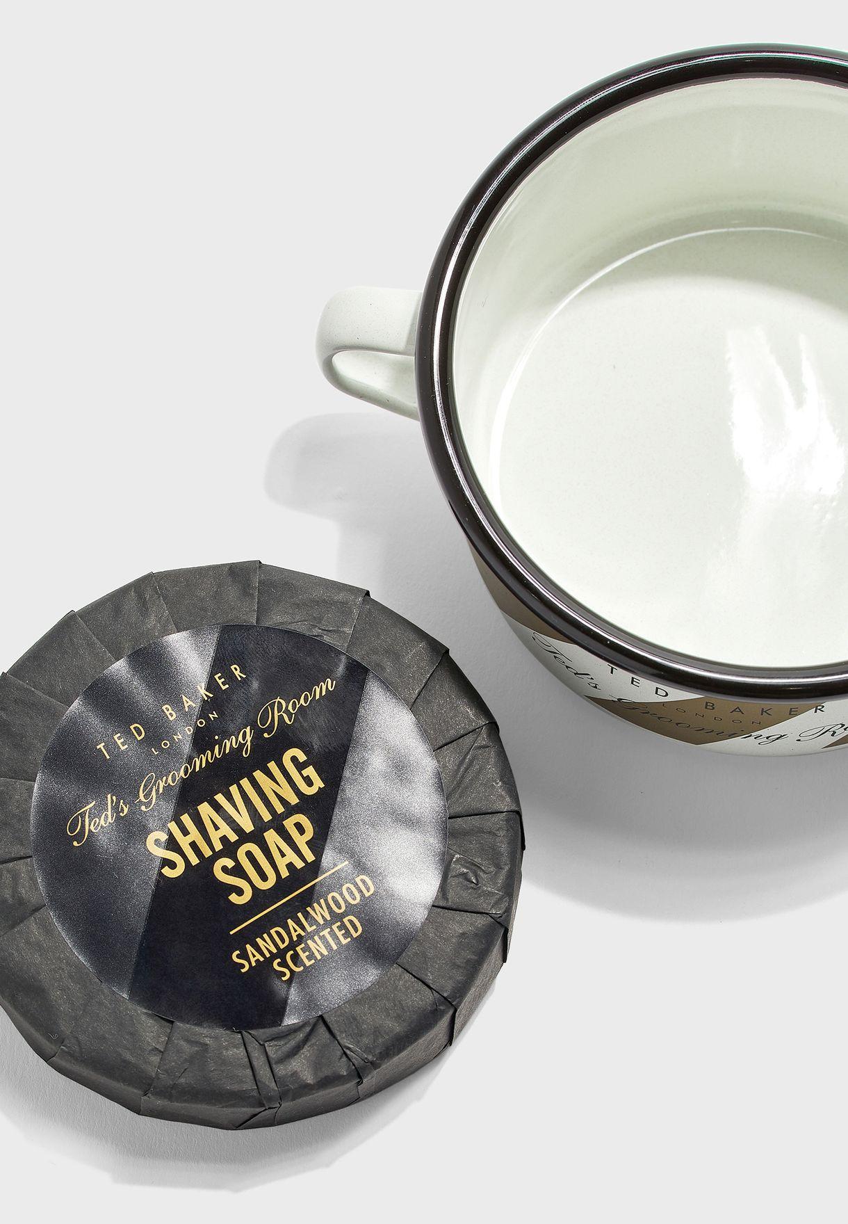 Enamel Shaving Bowl & Soap