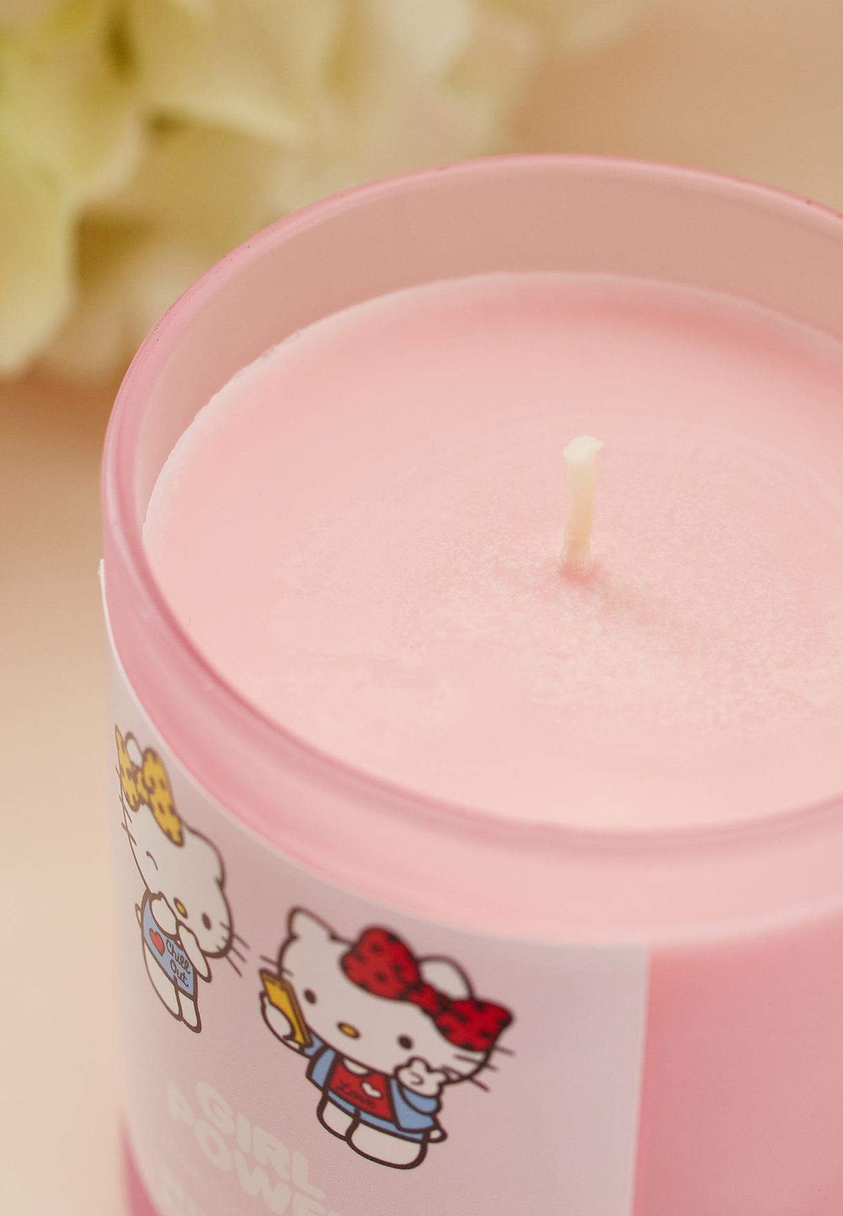 Hello Kitty Girl Power Frosted Jar Candle