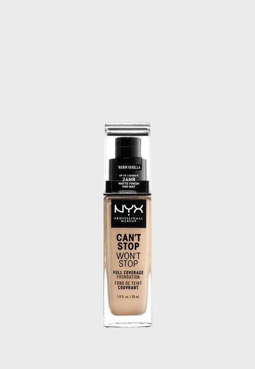 Cant Stop Wont Stop 24Hr Foundation- Warm Vanilla