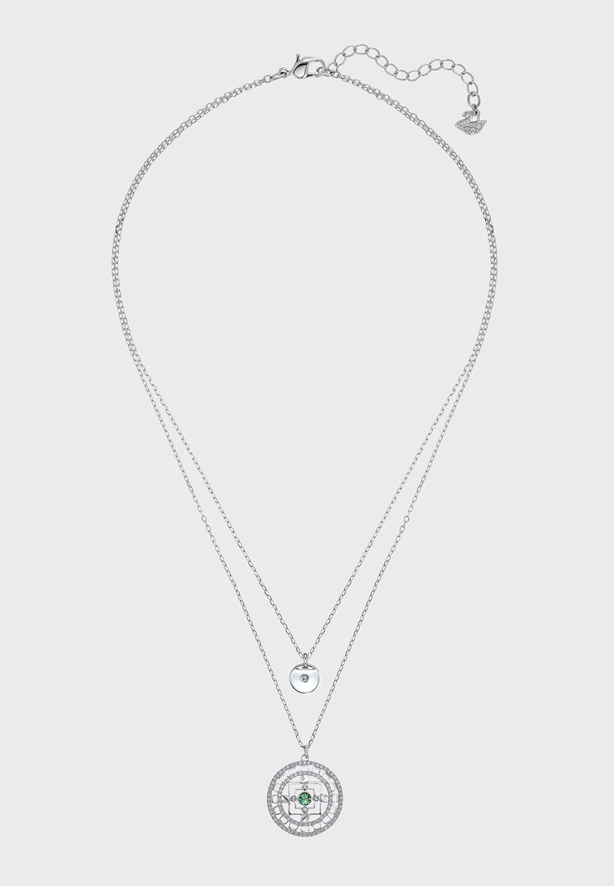 Mandala Pendant Layered Necklace