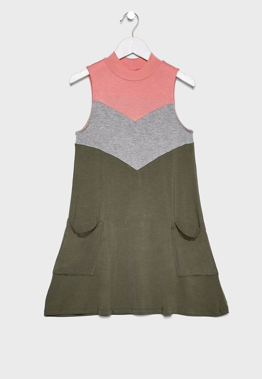 Kids Color Block Dress