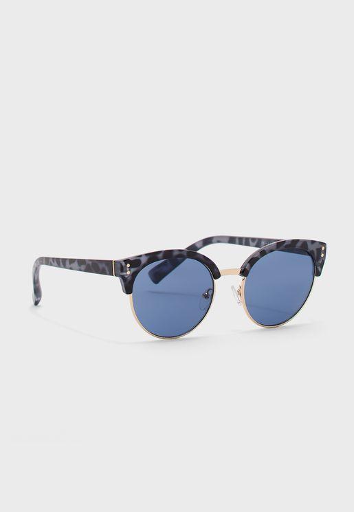 نظارات شمسية بإطار نصفي