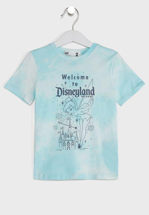 Kids Tinkerbell Tie Dye T-Shirt