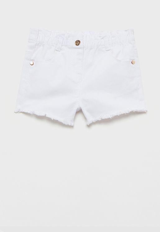 Infant Raw Hem Shorts