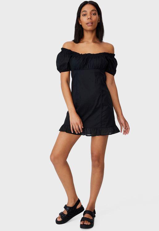 Corset Detail Mini Dress