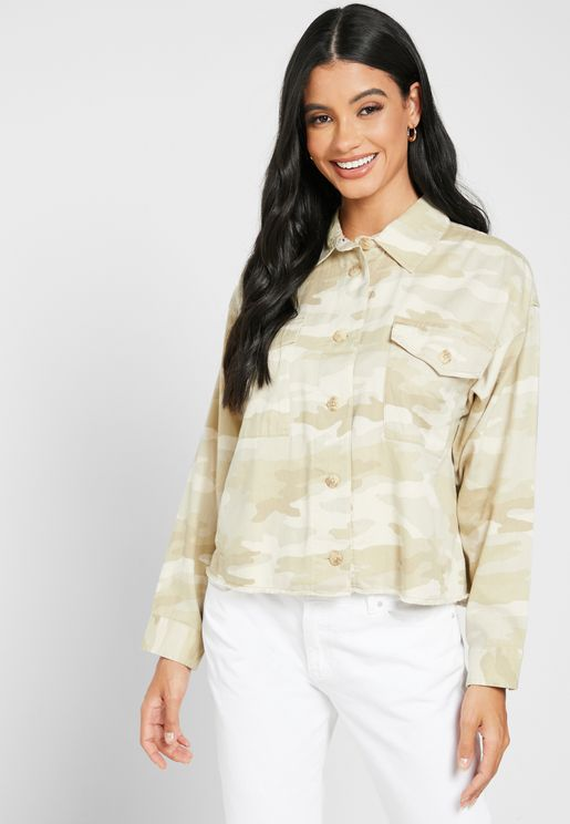 Double Pocket Button Down Shirt