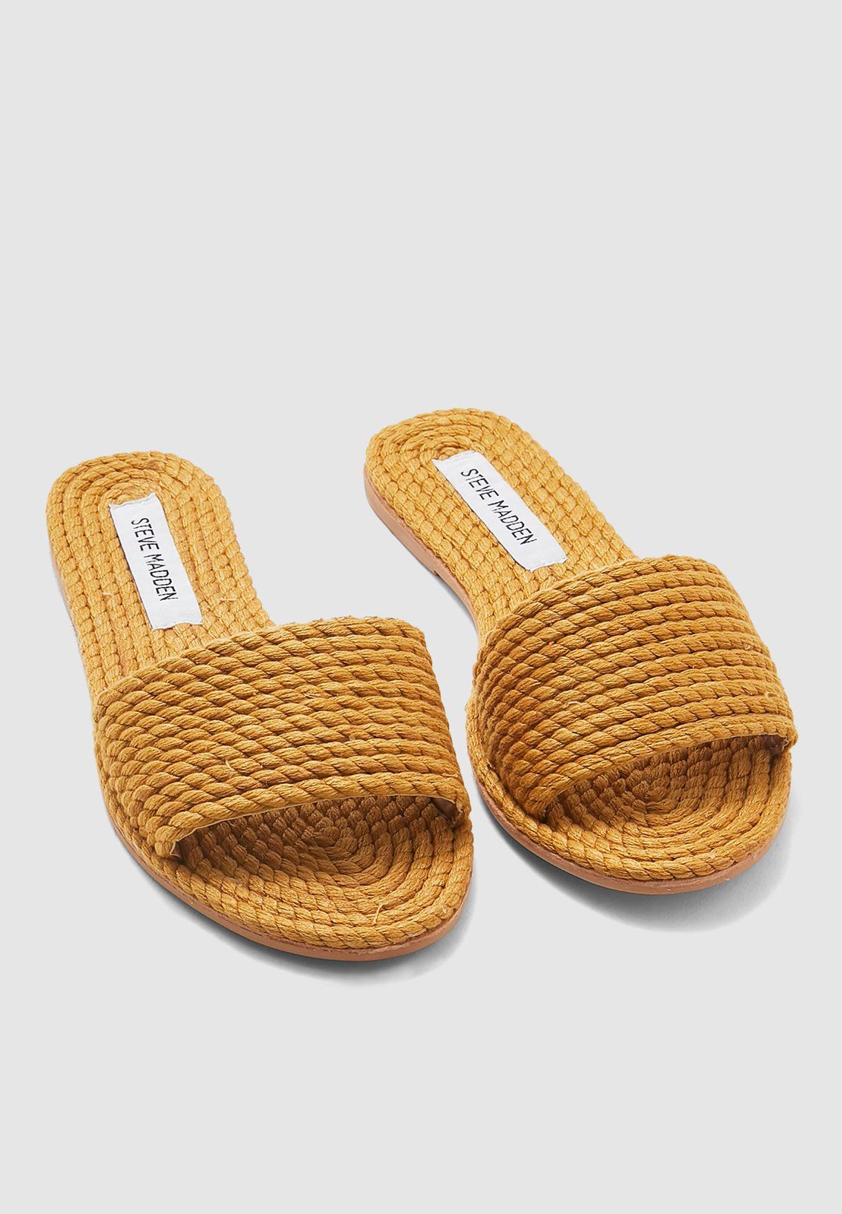 Roper Single Strap Flat Sandal - Yellow