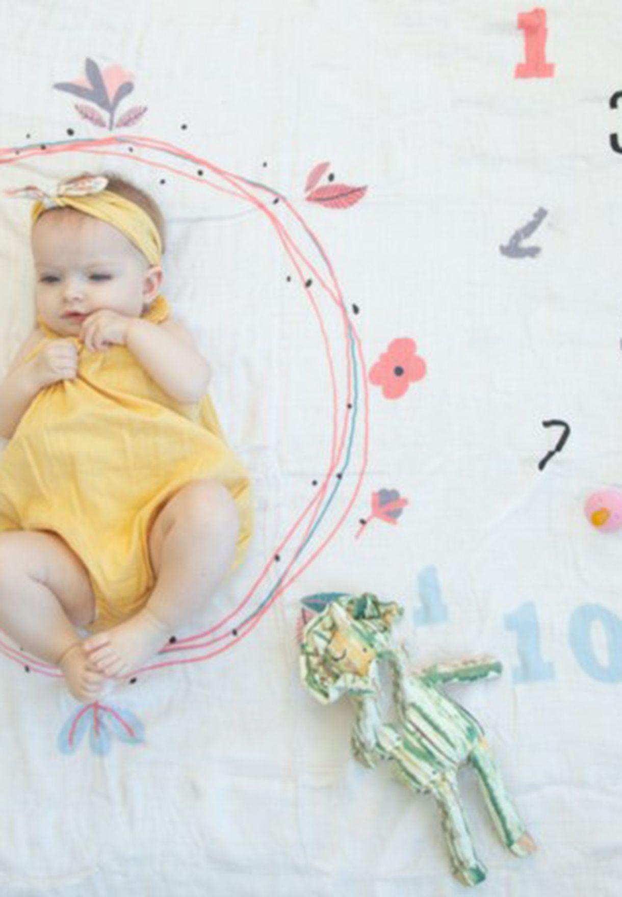 Set Of 2 Baby Milestone Blankets