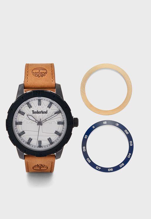 ساعة جلد اصلي انيقة
