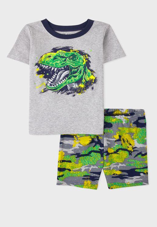 Kids Camo Dino Pyjama Set