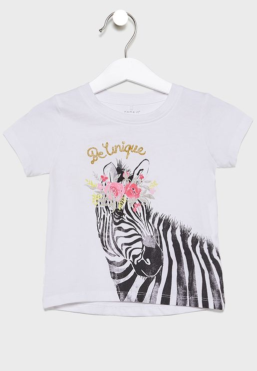 Kids Zebra Print Top