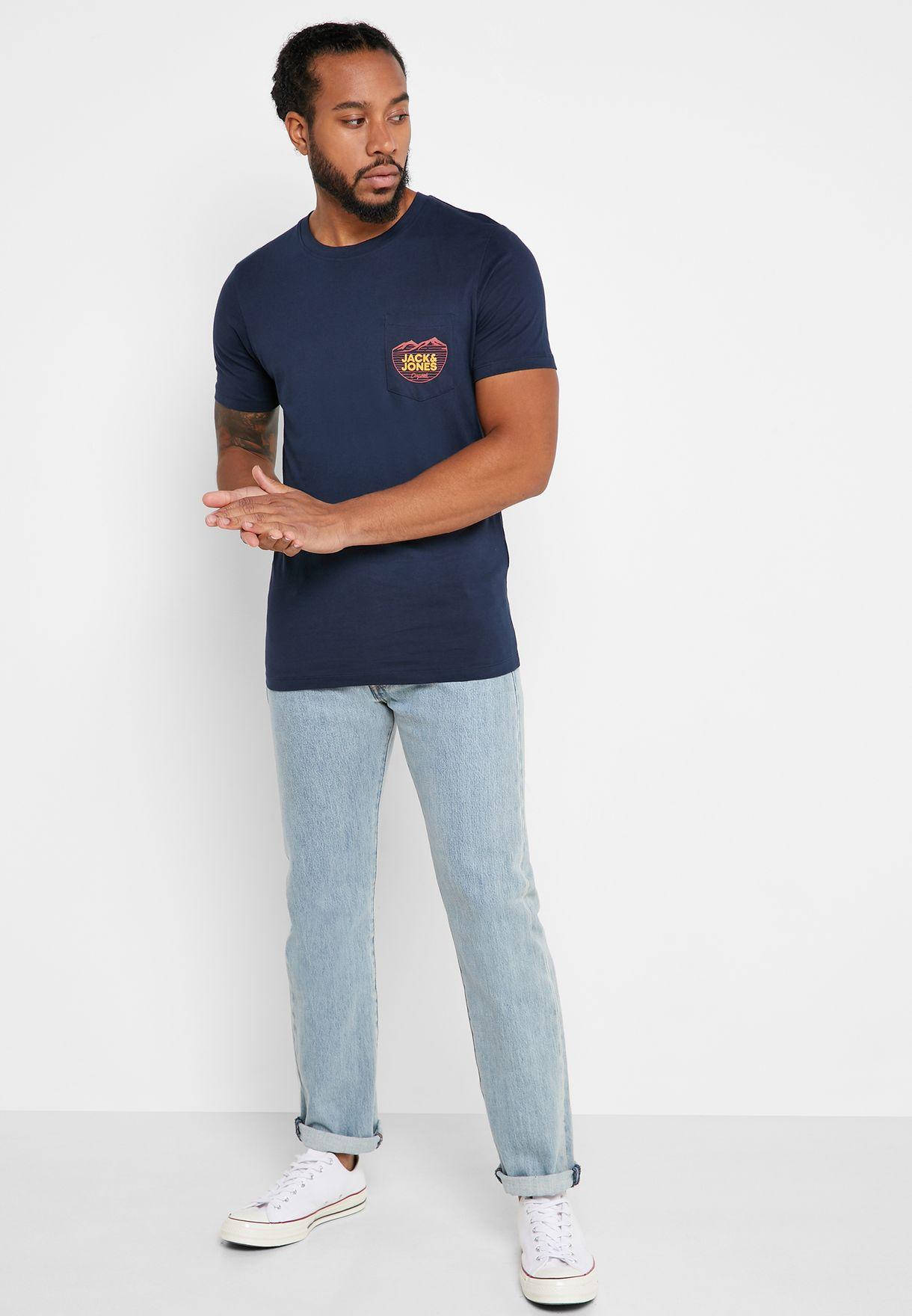 Denvers Pocket Detail Crew Neck T-Shirt