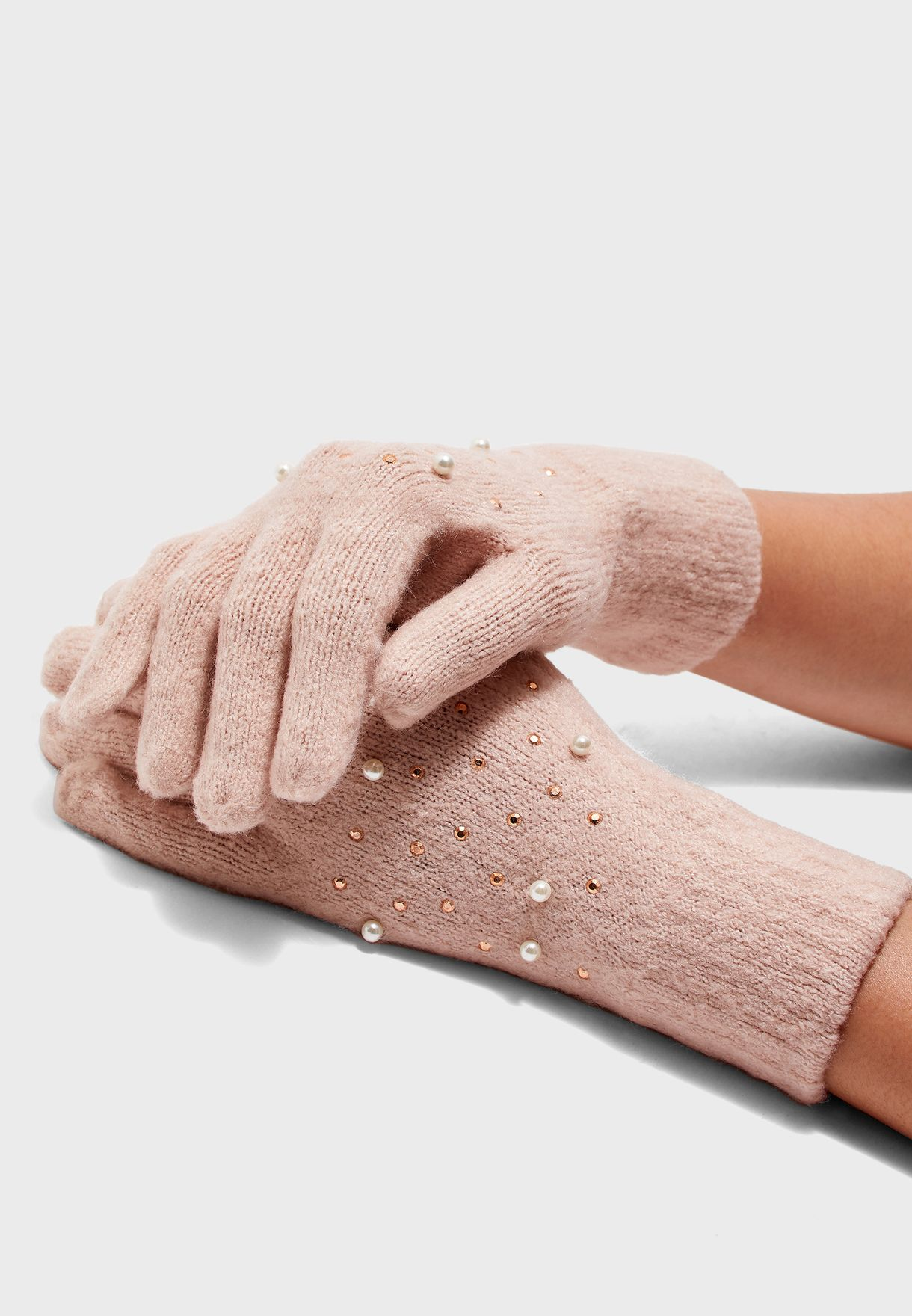 Embellished Detail Gloves