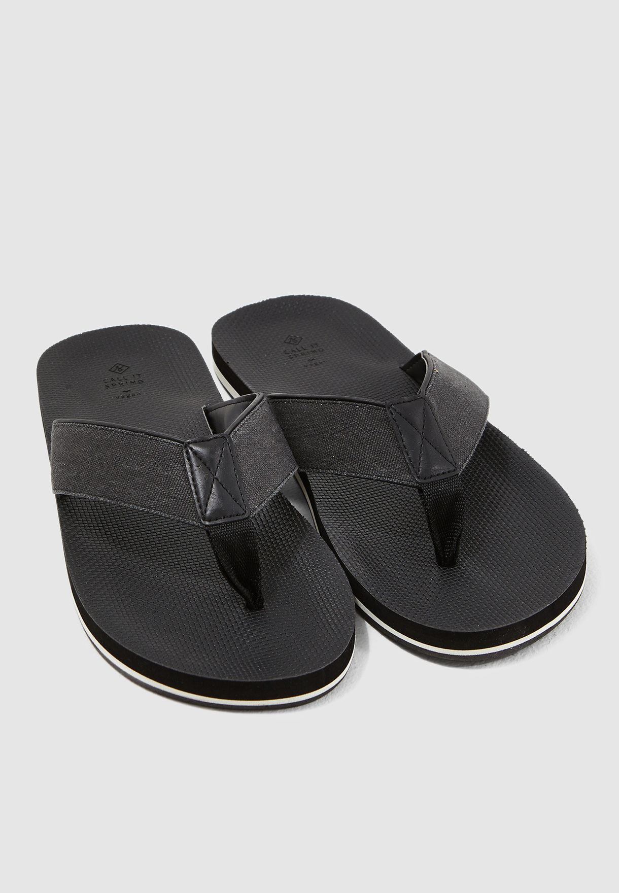 713d3931c168 Shop Call It Spring black Creber Flip Flops 11842931001 for Men in ...