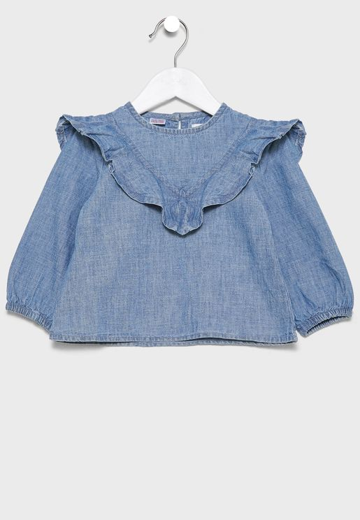 Infant Ruffle Detail Top