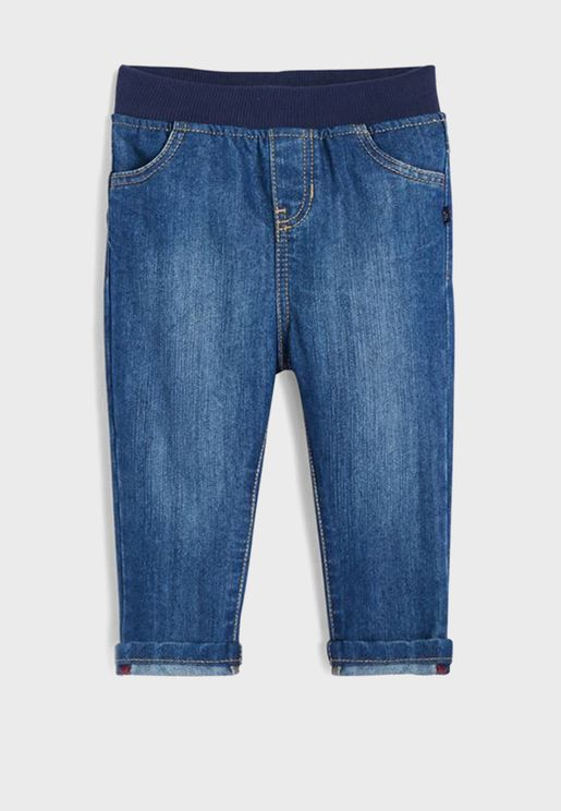 Infant Elastic Waistband Jogg Jeans