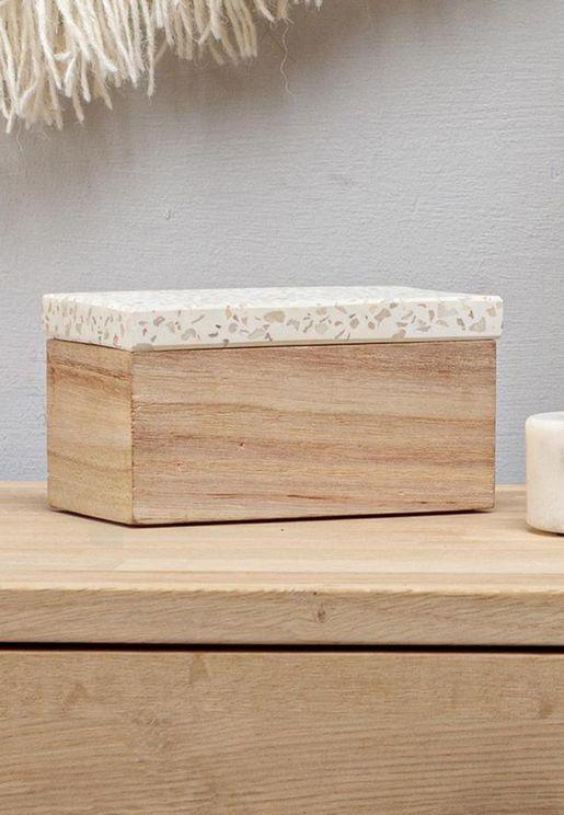 صندوق خشبي للتخزين