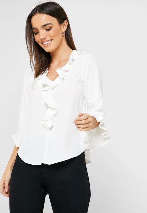 Frill Front Top