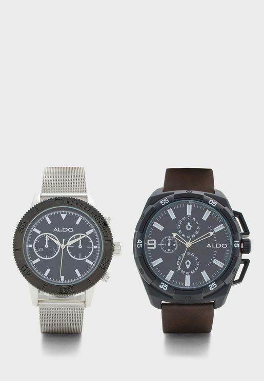Lacumic Analog Watches Gift Set