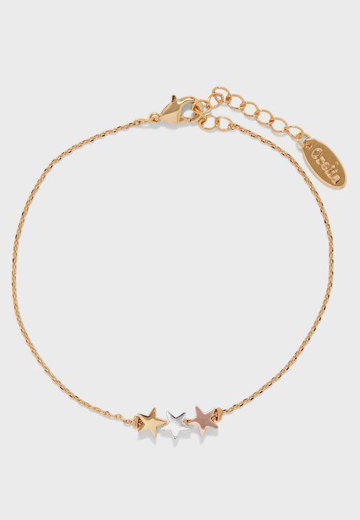 Three Little Stars Chain Bracelet