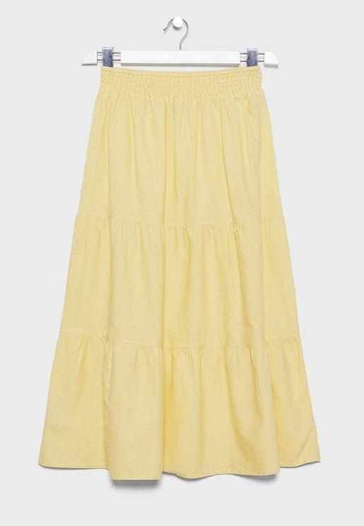 Kids Ruched Waist Skirt
