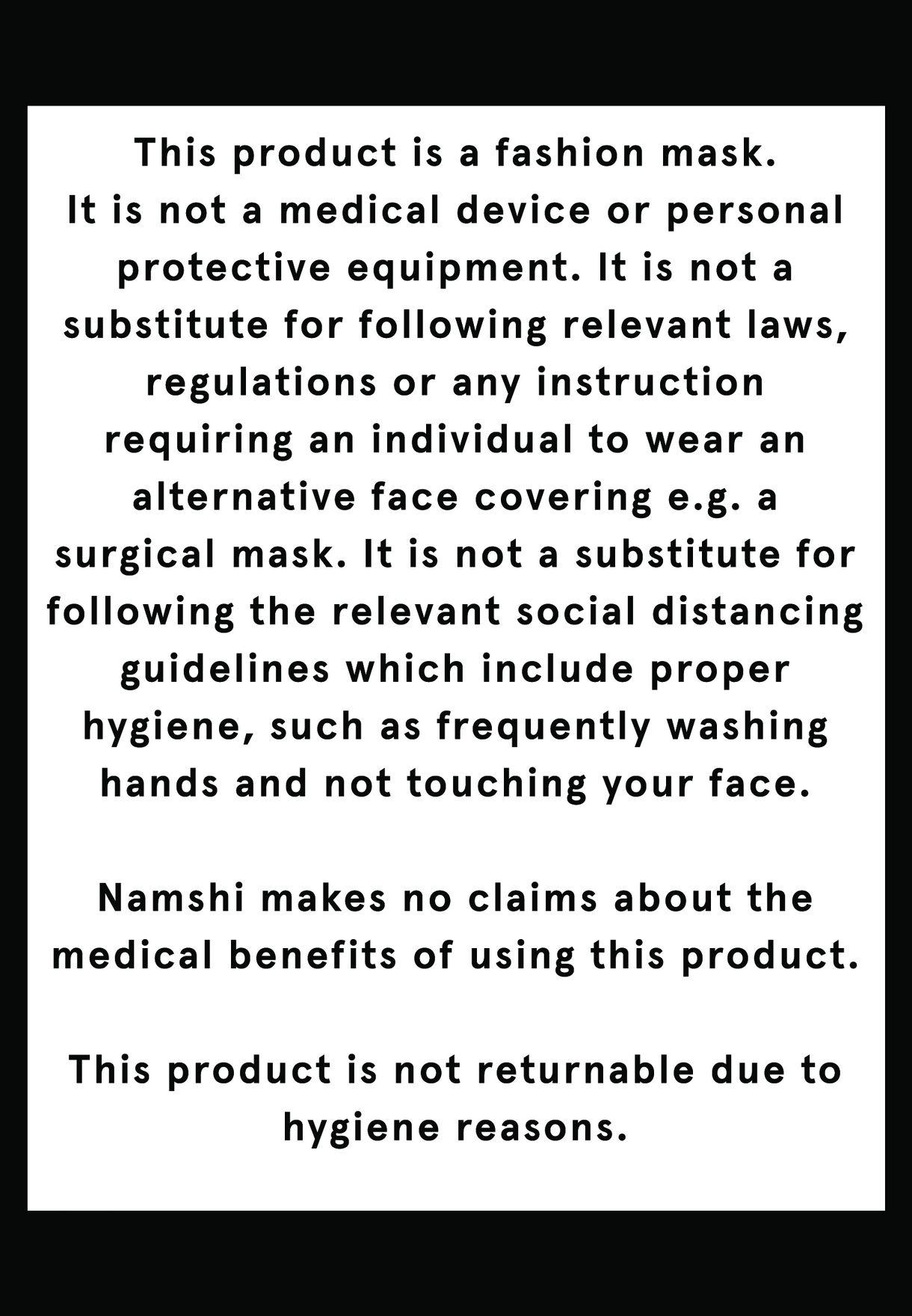 Printed Neoprene Washable Mask