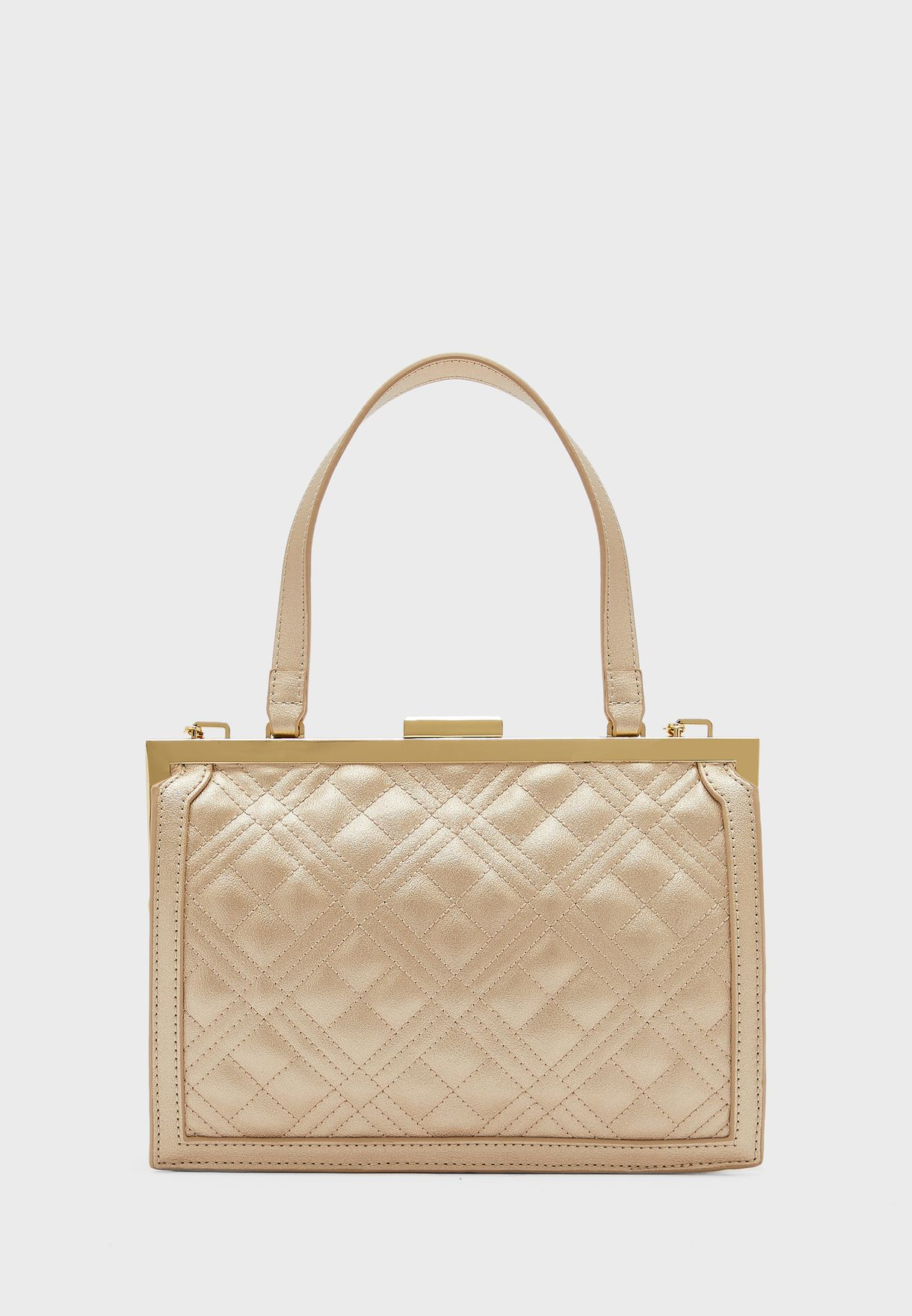 Quilted Chain Detail Crossbody