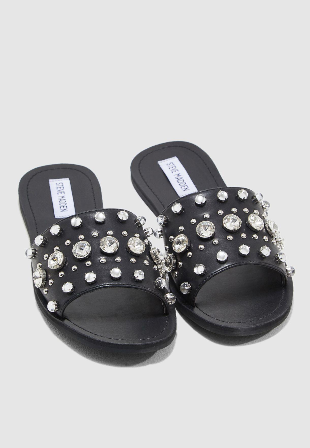 1c397c0f5a89 Shop Steve Madden black Regent Sandal With Pearl REGENT for Women in ...