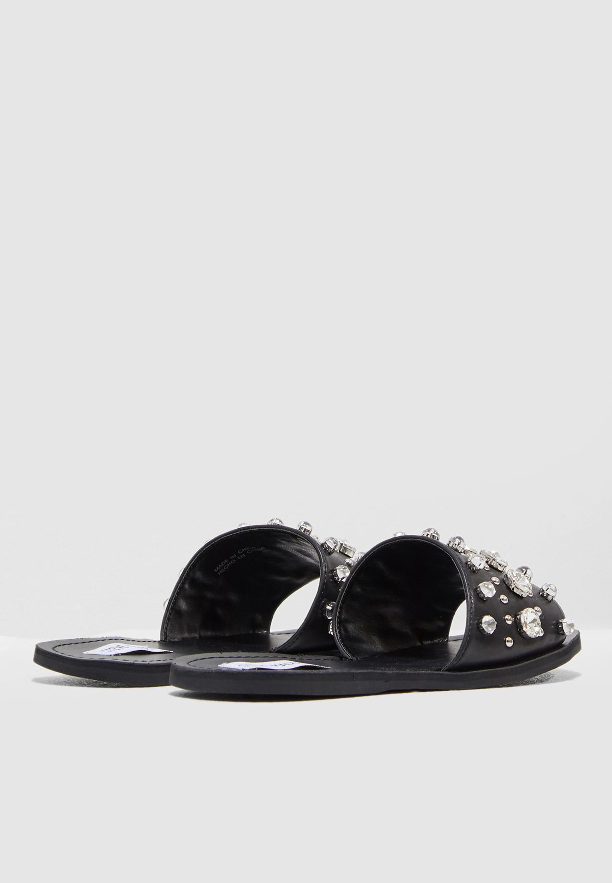 1c397c0f5a89 Shop Steve Madden black Regent Sandal With Pearl REGENT for Women in ...