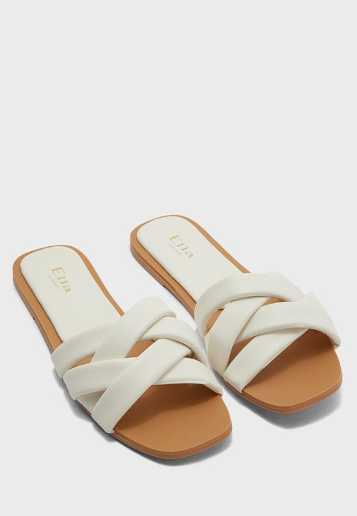 Weaved Multi-Strap Flat Sandal